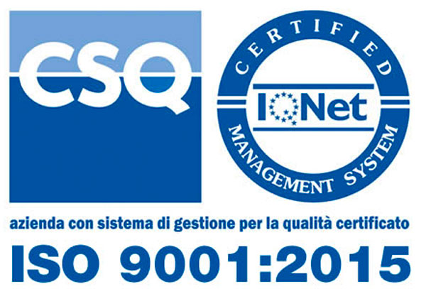 Certified Quality ISO 9001:2015